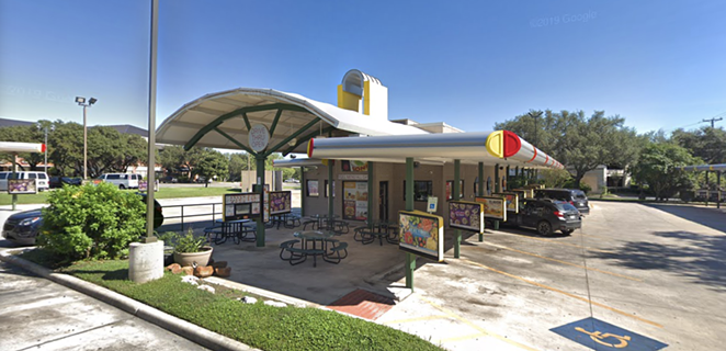 Two supervisors at this Sonic location have been arrested on indecency with a child charges. - SCREEN CAPTURE / GOOGLE MAPS