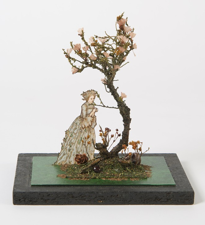 Tony Straiges, Maquette element for Mother's Tree in Into the Woods, ca. 1987. Painted board and paper, with found objects. Collection of the McNay Art Museum, Gift of the artist. - COURTESY OF MCNAY ART MUSEUM