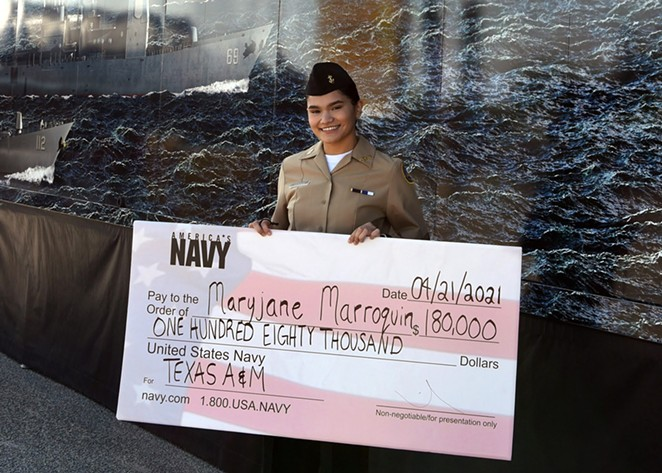 Maryjane Marroquin of SA's Southwest High School will attend  Texas A&M University this fall. - PHOTO COURTESY NAVY OUTREACH