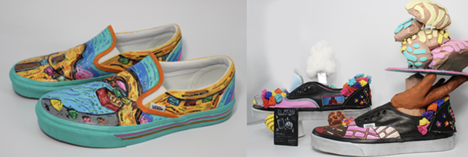 Edison High School's submissions for the Vans Custom Culture contest. - COURTESY IMAGE / VANS