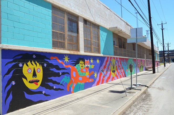 Angela Fox's vibrant mural Secrets of the Wild Woman. - BRYAN RINDFUSS