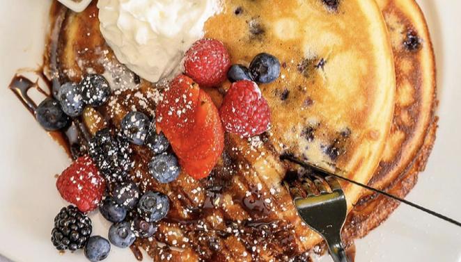 Bistr09's Lemon Ricotta Pancakes. - INSTAGRAM / BISTR09