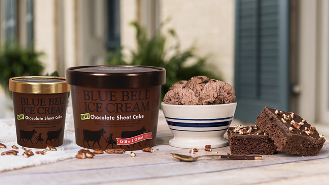 Blue Bell Ice Cream has released Chocolate Sheet Cake Ice Cream. - TWITTER / BLUE BELL ICE CREAM