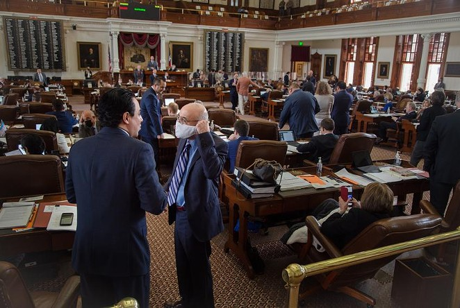 State representatives on the House floor at the Texas Capitol. Credit: - TEXAS TRIBUNE / EVAN L'ROY