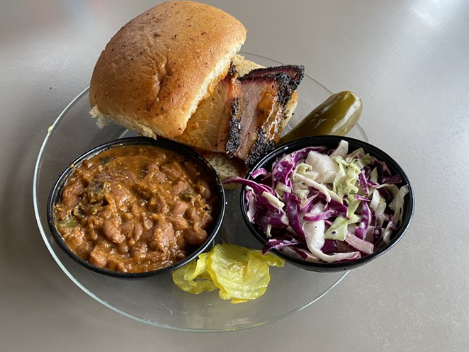 PInkerton's Barbecue opened in February near the Frost Bank Tower. - RON BECHTOL