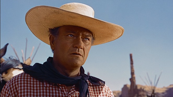 John Wayne starred in the 1956 film The Searchers. - COURTESY OF BRISCOE WESTERN ART MUSEUM