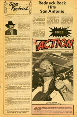 A page from a 1975 issue of Action Magazine. - SAM KINDRICK COLLECTION, THE WITTLIFF COLLECTIONS