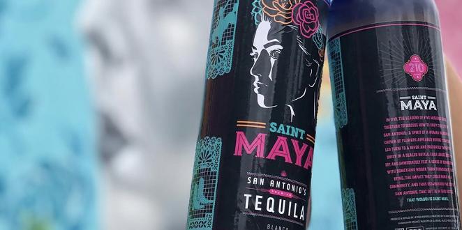 Saint Maya hit LiquorMax and Alamo City Liquors store shelves last weekend. - INSTAGRAM / TORREZJAY