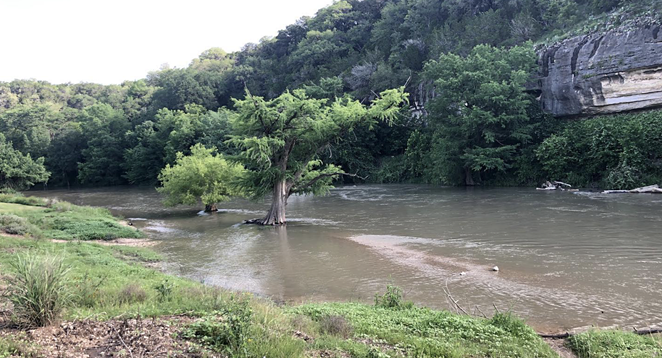 A May 30 photo shows the Guadalupe River at dangerous levels. - FACEBOOK / GUADALUPE RIVER STATE PARK - TEXAS PARKS & WILDLIFE