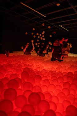 Hopscotch will officially open its crowd-favorite LED ball pit Friday, June 18. - COURTESY HOPSCOTCH