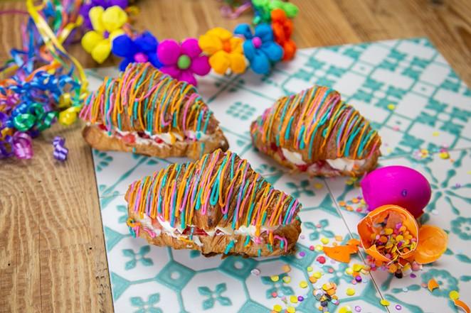 Brunch staple La Panadería is offering these Fiesta-themed croissants June 17-27. - COURTESY PHOTO / LA PANADERÍA