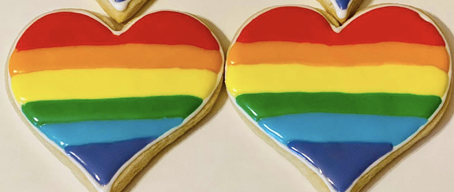East Texas bakery Confections received hateful messages after posting on social media about its Pride Month cookies. - FACEBOOK / CONFECTIONS