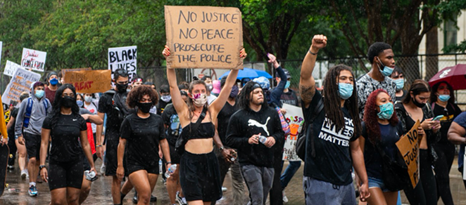 San Antonians march against police oppression during nationwide protests last year. - JAIME MONZON