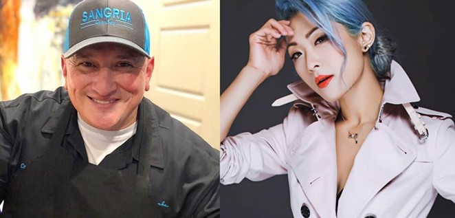 Chefs Ceasar Zepeda (left) and Kristina Zhao will partner up for the second Chef Swap dinner series event. - FACEBOOK / SANGRIA ON THE BURG / KRISTINA ZHAO