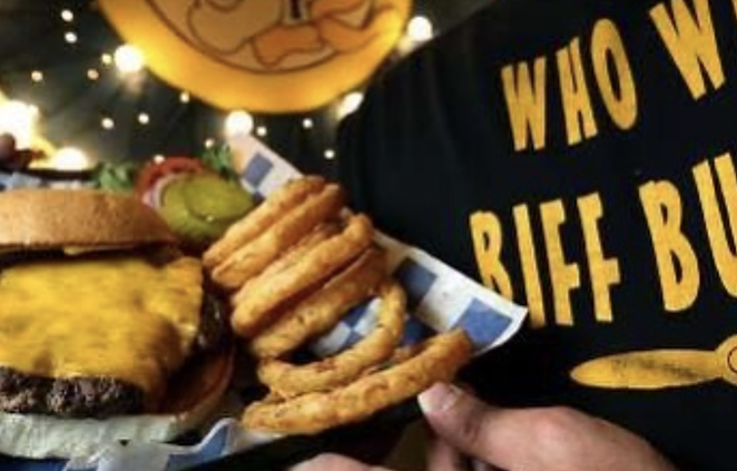 Biff Buzby's Burgers will offer its signature quarter-pounder for $2.22 Saturday. - INSTAGRAM / BIFFBUZBYS