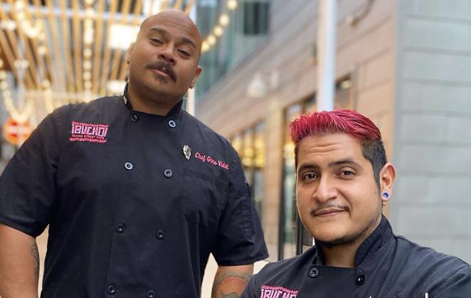 Chefs Gino Vidal (L) and Jerry Moreno of ¡Bucho! Tejano Street Fare will represent San Antonio in the Taco Rumble. - INSTAGRAM / BUCHOSATX