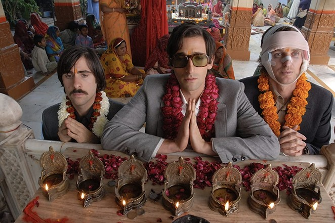 Slab Cinema brings Wes Anderson's whimsy to Legacy Park on Tuesday with a screening of The Darjeeling Limited. - THE CRITERION COLLECTION