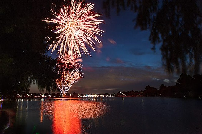 Fireworks return to Woodlawn Lake this year for SA's official Fourth of July Celebration. - OSCAR MORENO