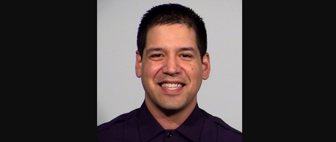 Officer Dezi Rios, 38, faces charges of DWI and failure to stop and provide information. He could face additional assault charges, according to SAPD officials. - SAPD