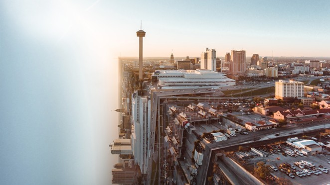 Travel site reimagines San Antonio as mind-bending dreamscape ahead of Inception anniversary. - COURTESY NEXT VACAY