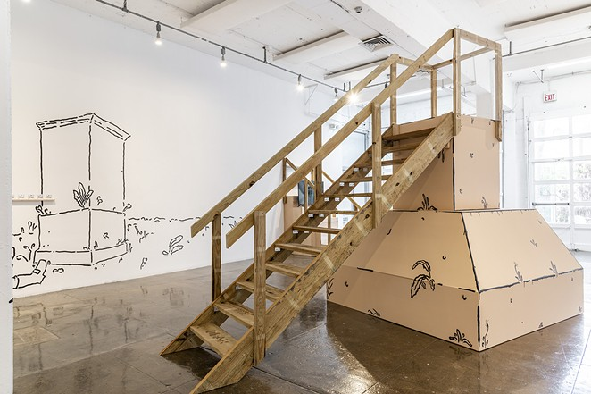 Iván Argote, Installation view of All Here Together, 2021. - COURTESY OF ARTPACE