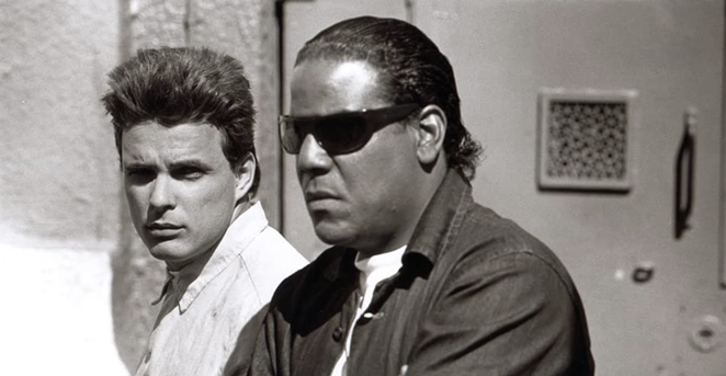 Actor Carlos Carrasco with Damian Chapa in Blood In, Blood Out. - HOLLYWOOD PICTURES