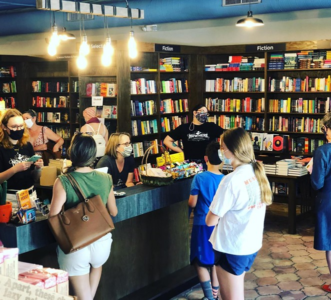 Nowhere Bookshop welcomed customers into its store to celebrate Independent Bookstore Day in April. - FACEBOOK / NOWHERE BOOKSHOP
