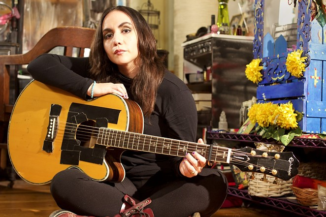 """Nina Diaz is one of 19 Latin rock and pop performers to record vocals for a Spanish-language reimagining of Costello's classic """"This Year's Model"""" album. - GUILLERMINA ZABALA"""