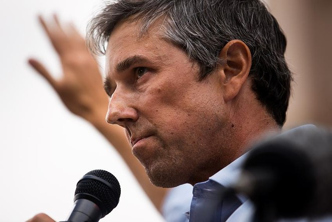 """Former U.S. Rep. Beto O'Rourke, D-El Paso, speaks at """"Texans Rally for Our Voting Rights"""" at the Texas Capitol in Austin on May 8, 2021. - TEXAS TRIBUNE / EVAN L'ROY"""
