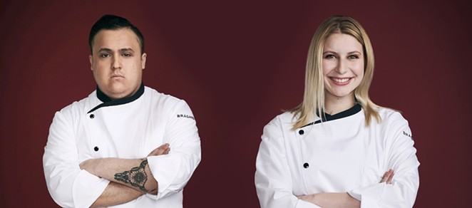 SA native Antonio Ruiz (L) and Emilie Hersh compete on Fox's Hell's Kitchen: Young Guns. - COURTESY ANTONIO RUIZ AND EMILIE HERSH