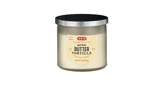 San Antonio-based H-E-B is now selling butter tortilla-scented candles. - PHOTO COURTESY H-E-B