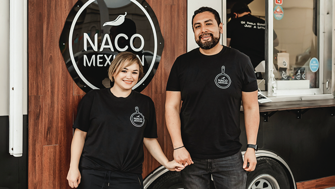 Naco Mexican Eatery owners Lizzeth Martinez (left) and Francisco Estrada. - PHOTO COURTESY NACO MEXICAN EATERY