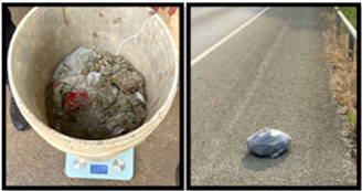 Fair Oaks cops shared these photos of bundled cat excrement they believe were discarded by the man they arrested. - FACEBOOK / FAIR OAKS RANCH POLICE DEPARTMENT
