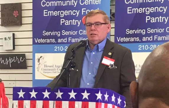 State Rep. Leo Pacheco speaks to a group during a 2019 appearance. - FACEBOOK / WINDHAND