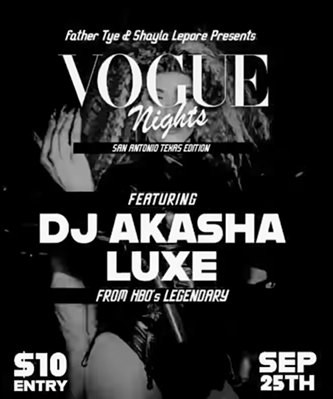 A flyer for the first edition of Vogue Nights: San Antonio Edition. - COURTESY IMAGE / VOGUE NIGHTS: SAN ANTONIO EDITION