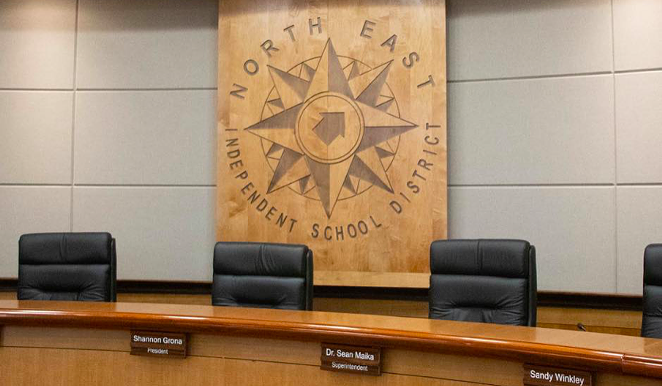 NEISD's board voted to require masks on its campuses after hearing from 100 speakers at a Thursday emergency meeting. - FACEBOOK / NORTH EAST ISD