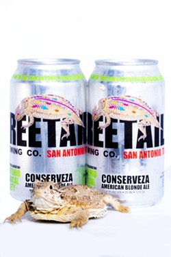 Freetail's newest Conserveza cans feature the Texas horned lizard. - PHOTO COURTESY SAN ANTONIO ZOO