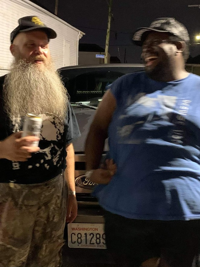 Hickoids found out about the death of New Orleans fan Hollise Murphy (right) while they were on the road. - COURTESY PHOTO / JOHN LITTLEJOHN