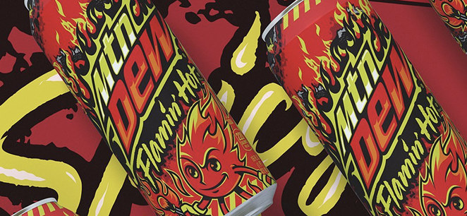 Mountain Dew will release a Flamin' Hot soda August 31. - INSTAGRAM / MOUNTAINDEW