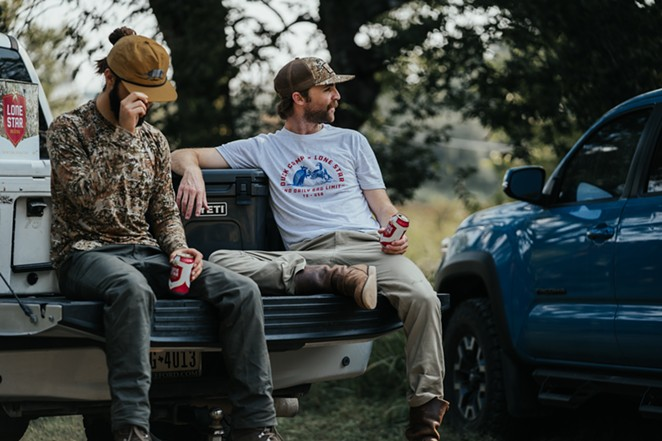 Lone Star Beer has debuted a hunting-inspired merch collaboration with outdoor goods brand Duck Camp. - JOHN DUNAWAY FOR LONE STAR X DUCK CAMP