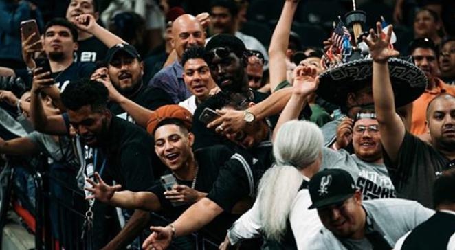 San Antonio Spurs fans show their enthusiasm. - INSTAGRAM / @SPURS