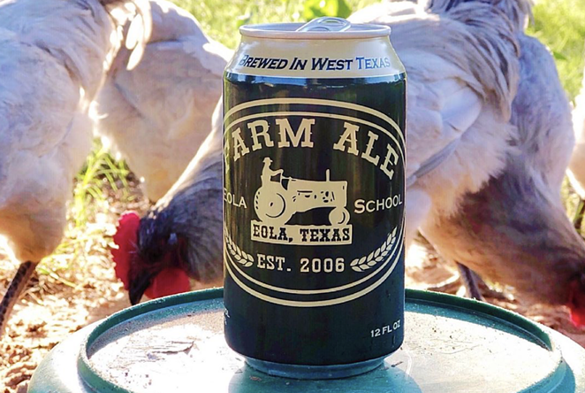 Farm Ale Brewing Co. will open October 9 in Eola, Texas. - INSTAGRAM / MOTHERLUCKRANCH