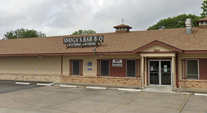 Snoga Bar-B-Q will close its doors this weekend after 44 years in business. - SCREEN CAPTURE / GOOGLE MAPS