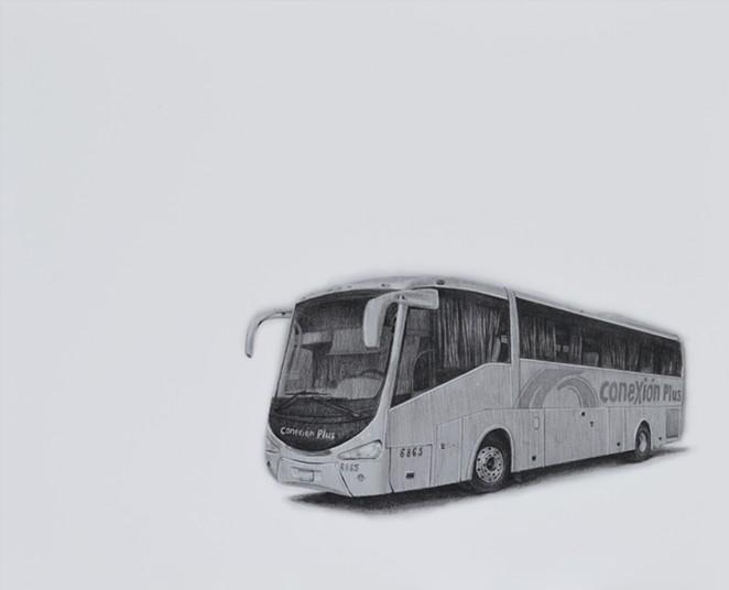 Fernando Andrade's series La Ruta recreates buses his grandmother took between Texas and Mexico. - COURTESY IMAGE / FERNANDO ANDRADE