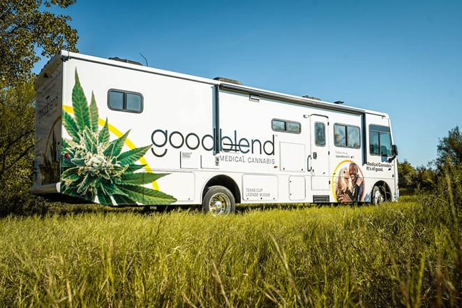 Medical cannabis dispensary goodblend Texas is taking its Cannabus to San Antonio and other big cities to educate people about the state's expanded medical marijuana program. - COURTESY PHOTO / GOODBLEND TEXAS