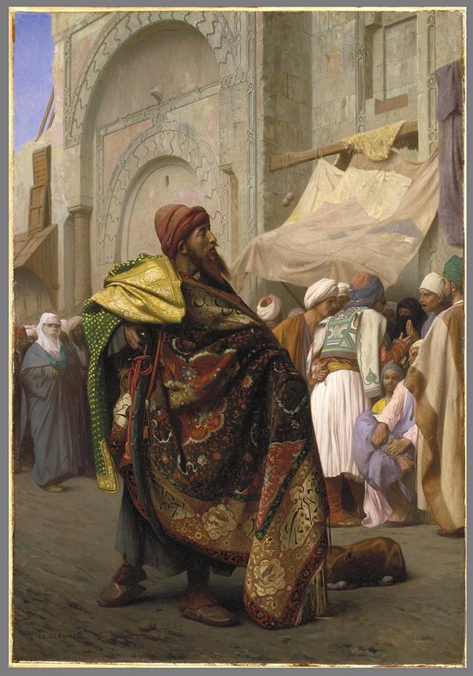 JEAN-LÉON GÉRÔME, THE CARPET MERCHANT OF CAIRO. BROOKLYN MUSEUM, GIFT OF JOSEPH GLUCK, 74.208. (PHOTO: BROOKLYN MUSEUM)