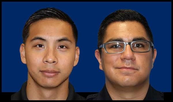 Former SAPD officers Alejandro Chapa and Emmanuel Galindo. - BEXAR COUNTY, SARAH FLOOD-BAUMANN