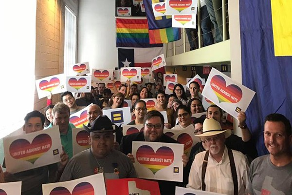 Scores of activists were on hand at the March 5 opening of the HRC field office on 9th Street in San Antonio. (Photo: Facebook/HRC San Antonio)