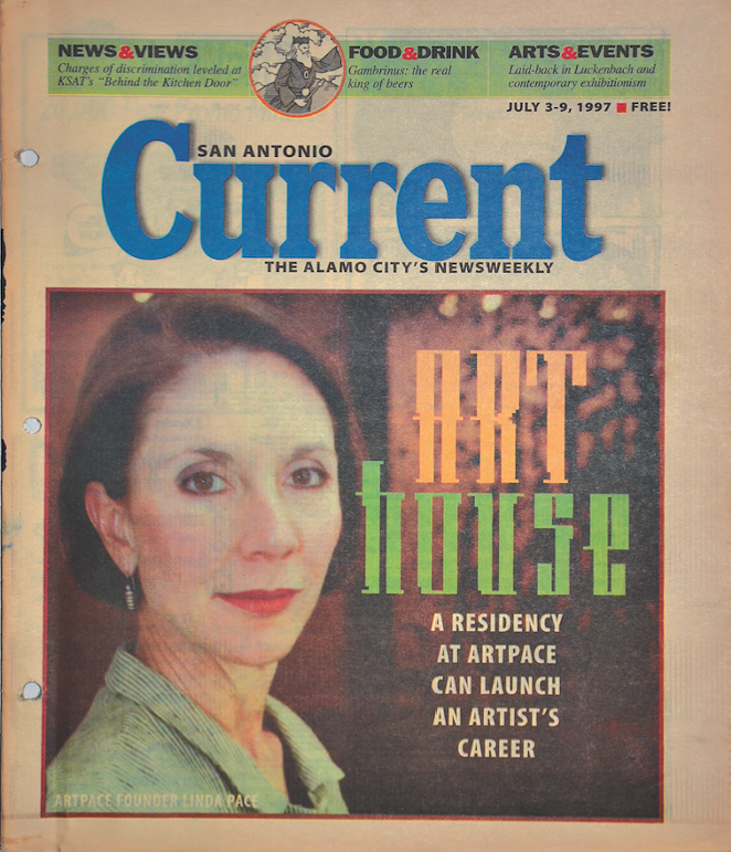Linda Pace on the cover of the Current in 1997