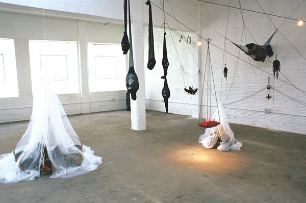 Installation view of Annette Messager's 1995 Artpace exhibition (originally commissioned and produced by Artpace San Antonio, photo by Roberta Barnes)